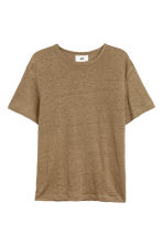 Linen T-shirt - Dark beige - Men | H&M 2