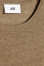 Linen T-shirt - Dark beige - Men | H&M 3
