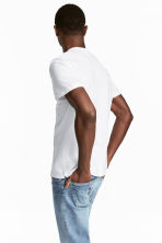Pima cotton T-shirt - White - Men | H&M 4
