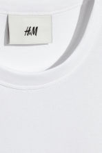 Pima cotton T-shirt - White - Men | H&M 3
