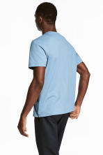 Pima cotton T-shirt - Sky blue - Men | H&M 4