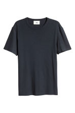 Cotton-blend T-shirt - Dark blue - Men | H&M 2