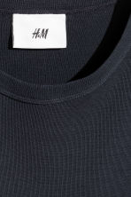 Cotton-blend T-shirt - Dark blue - Men | H&M CN 3