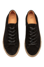 Suede trainers - Black - Men | H&M 2