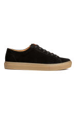 Suede trainers - Black - Men | H&M 1