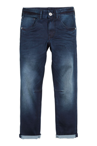 Relaxed Tapered fit Jeans - Blu denim scuro - BAMBINO | H&M CH