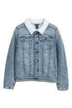 Pile-lined denim jacket - Denim blue -  | H&M 2