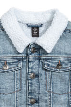 Pile-lined denim jacket - Denim blue -  | H&M 4