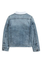 Pile-lined denim jacket - Denim blue -  | H&M 3