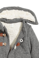 Pile-lined duffle coat - Grey -  | H&M 2