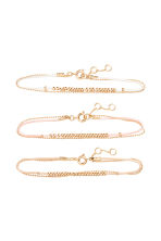 3-pack bracelets - Powder - Ladies | H&M 1