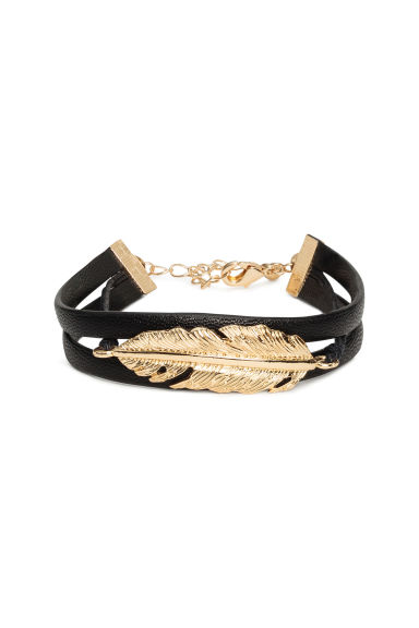 Imitation leather bracelet - Gold - Ladies | H&M 1