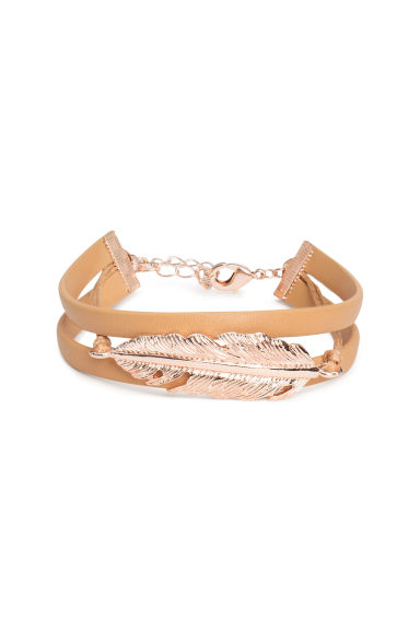Imitation leather bracelet - Rose gold - Ladies | H&M CN
