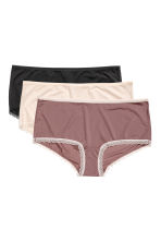 3-pack shortie briefs - Powder pink/Multicoloured - Ladies | H&M 1