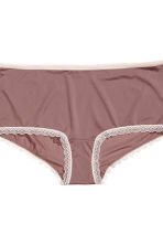 3-pack shortie briefs - Powder pink/Multicoloured - Ladies | H&M 3