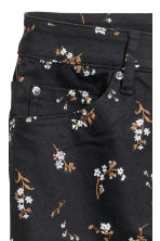 Stretch trousers High waist - Black/Floral - Ladies | H&M 3