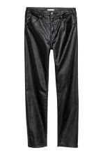 Stretch trousers High waist - Black/Coated - Ladies | H&M CN 2
