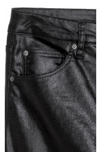 Stretch trousers High waist - Black/Coated - Ladies | H&M CN 3