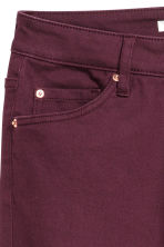 Stretch trousers High waist - Burgundy - Ladies | H&M IE 3