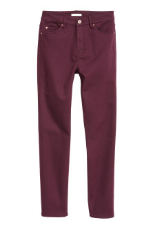 Stretch trousers High waist