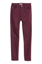 Stretch trousers High waist - Burgundy - Ladies | H&M IE 2