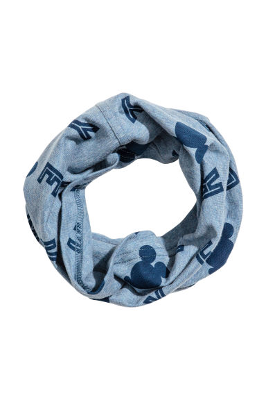 Cotton jersey tube scarf - Blue marl/Mickey Mouse -  | H&M 1