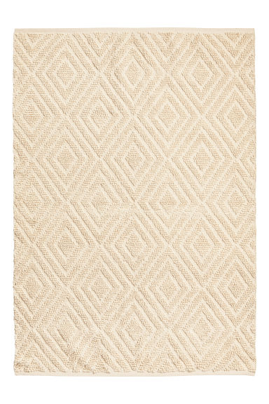 Wool-blend Rug - Natural white -  | H&M CA