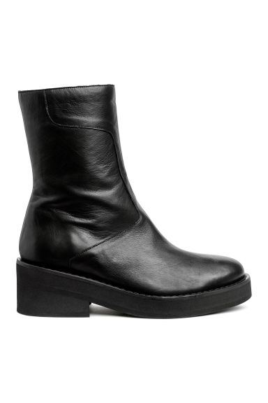 Leather boots - Black - Ladies | H&M