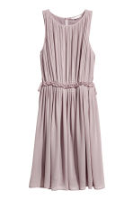 Pleated chiffon dress - Dusky purple - Ladies | H&M CN 2