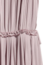 Pleated chiffon dress - Dusky purple - Ladies | H&M CN 3