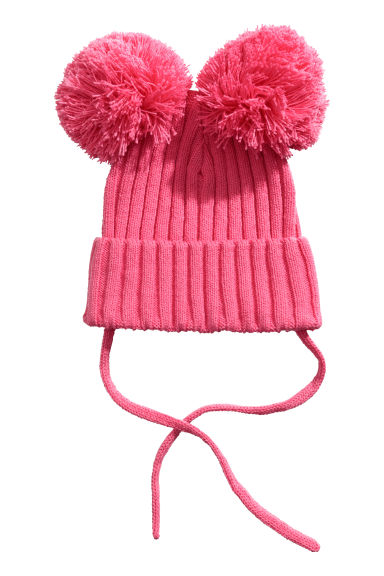 Ribbed hat - Pink - Kids | H&M