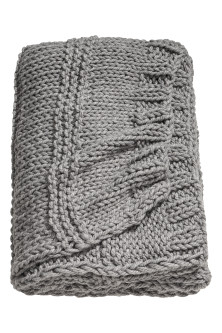 Textured-knit blanket