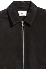 Suede shirt jacket - Black - Men | H&M 4