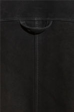Suede shirt jacket - Black - Men | H&M 3