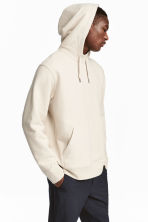 Cotton hooded top - Light beige - Men | H&M CN 4