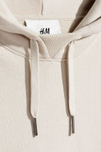 Cotton hooded top - Light beige - Men | H&M CN 3