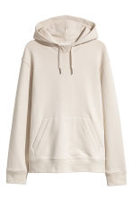 Cotton hooded top - Light beige - Men | H&M CN 2