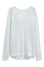 Loose-knit jumper - Light blue-grey - Ladies | H&M CA 2