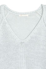 Loose-knit jumper - Light blue-grey - Ladies | H&M CA 3