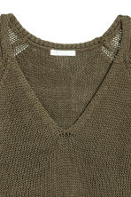 Loose-knit jumper - Khaki green - Ladies | H&M CA 3
