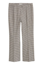 Ankle-length trousers - Beige/Dogtooth - Ladies | H&M GB 2
