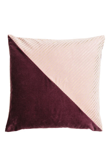 Cotton velvet cushion cover - Old rose/Burgundy - Home All | H&M CN 1