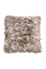 Faux fur cushion cover - Dark grey - Home All | H&M CN 1
