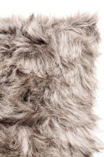 Faux fur cushion cover - Dark grey - Home All | H&M CN 2