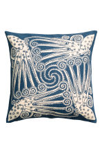 Patterned cushion cover - Dark blue - Home All | H&M CN 1