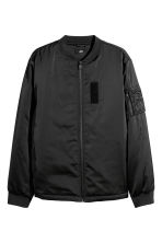 Bomber jacket with a motif - Black - Men | H&M IE 2