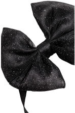 Hairband with a bow - Black/Glittery -  | H&M 2