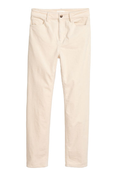 Ankle-length corduroy trousers Model