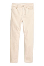 Ankle-length corduroy trousers - Natural white - Ladies | H&M IE 1