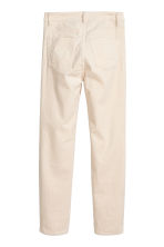 Ankle-length corduroy trousers - Natural white - Ladies | H&M IE 2